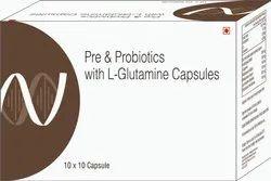 Pre & Probiotics With L-Glutamine Capsules