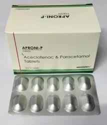 Aceclofenac and Paracetamol  Tablet
