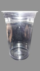Plain Transparent 300ml Disposable Plastic Glass, For Office, 1mm