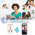 SAFETYNET New Version Mini WiFi Hidden Cameras in 3 Pin Multi Plug 6/16A Spy Cameras