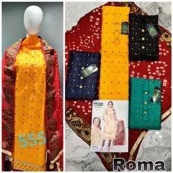 Cotton 44inch Lady Suit Dress Material