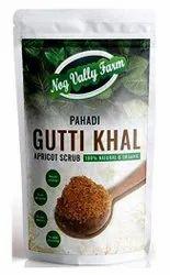 Powder Pahadi Gutti Khal Apricot Scrub, Packaging Size: 100g