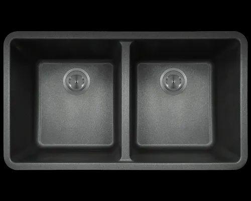 Black 30x18inch Ss Double Bowl Kitchen Sink Noor Enterprises Id 23501669688