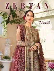 Noor Zebtan Vol 2 Georgette Embroidered Pakistani Suit Catalog