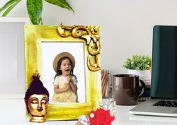 Golden Wooden Photo Frame for Home