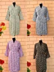 Imported Crap Silk Printed Kimono