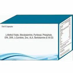 L- Methyl Folate, Mecobalamine, Vitamin D3 Capsules