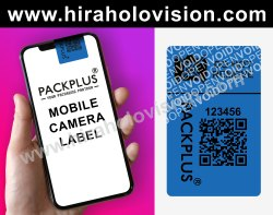 Packplus Standard Blue Mobile Camera Labels., For Packaging, Size: Custom Made