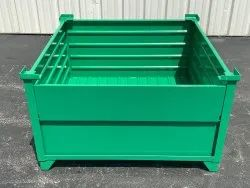 Corrugated Steel Bulk Container With Half Drop Gate