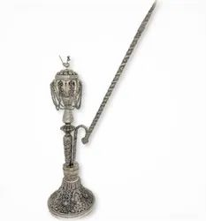 Metal Silver Plated Antique  Hookah For Decoration, Use & Corporate Gift.