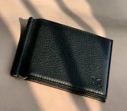 Black Leather SN 027 Money Clip Wallet