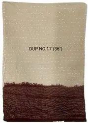 Cotton Beige Printed Dupatta