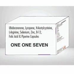 Ubidecarenone Lycopene N-Acetylcysteine L-Arginine Selenium Zinc B12 & Folic Acid & Piperine Caps