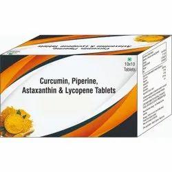 Curcumin, Piperine, Astaxanthin & Lycopene Tablets