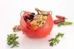 Plastic Vegetable Washing Bowl, For Kitchen, Circular