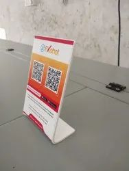 Black Acrylic Display Stand For Qr Code