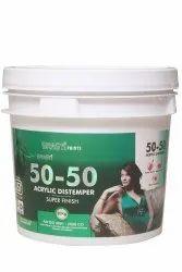 Liquid Matt Srasti 50-50 Acrylic Distemper Paint 20 Kg, For Wall, Packaging Type: Bucket