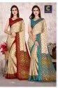 Raw Silk Jacquard Saree