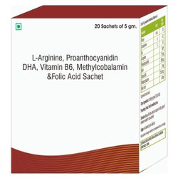 L-Arginine, Proanthocyanidin, Dha, Vitamins B6 , Methylcobalamin & Folic Acid Sachet