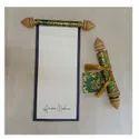 Cardboard Box Invite Handmade Paper Wedding Scroll Roll, Size: 4