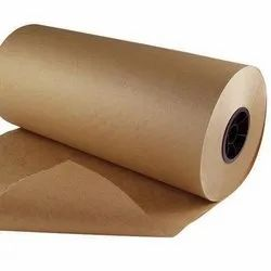 Wood Pulp Brown Imported Kraft Paper Roll, For Packaging, 120 Gsm