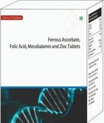 Ferrous Ascorbate, Folic Acid, Mecobalamin Acid And Zinc Tablets