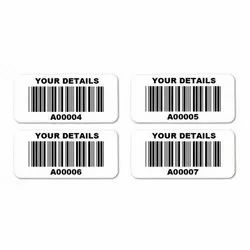 Printed & Plain Also Paper Barcode Stickers, Packaging Type: Roll