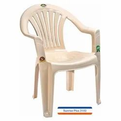 Marble Beige Mid Back Plastic Chair