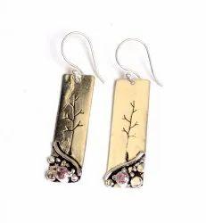 Rose Quartz Gemstone Designer Earrings