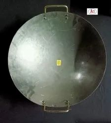 Round Mild Steel Chinese Kadai, For Home, Capacity: 1.2 Litre