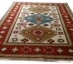 Polyester Designer FAF00223 Hand Knotted Kazak Faf Carpet, Size: 4 X 6 Ft