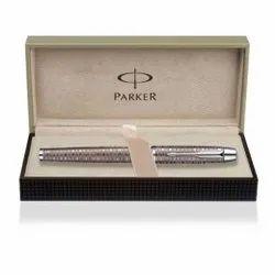 Parker IM Premium Brown Shadow Chrome Trim Fountain Pen