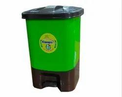 Green PP Kleenpro 10 Litre Dustbin Pedal Type