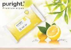 Puright 25 Pulls Wet Wipes With Lemon Fragrance
