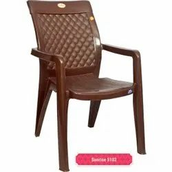 Copper Brown High Back Plastic Chair