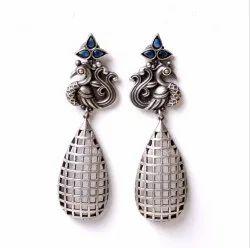 Antique Silver Look Like Oxidized Fashion Earrings