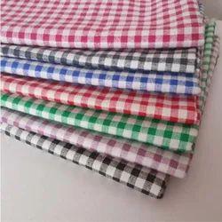 Cotton Fabric Cheks Clothes, Block Print, GSM: 200