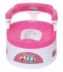 Pink Baby Potty Seat With Back Support