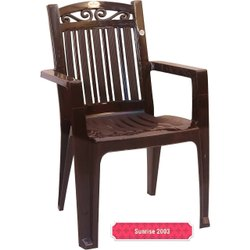 With Hand Rest Brown Plastic Chair