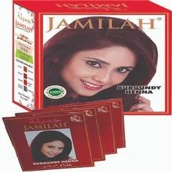 Jamilah Burgundy Henna Herbal Hair Color, For Personal, Packaging Size: 1 Master Carton = 100 Boxes