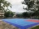 Interlocking Poly Propane Multicolor Modular Outdoor Sports Tiles For Basketball ,Lawn Tennis Court.