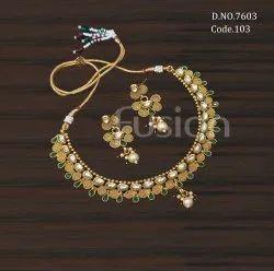 Fusion Arts Traditional Kundan Necklace Set