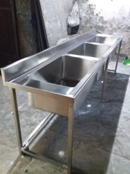 Stainless Steel Three Sink Unit
