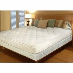 White Memory Foam Spring Mattress, For Home, Size/Dimension: 75*72*6 Inches
