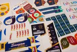 Multicolor Vinyl Label Sticker, For Branding, Packaging Type: Packet