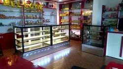 Cold Display Counter Plain Glass