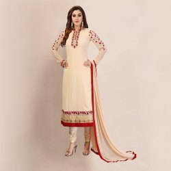Nivah Fashion Women's Embroidery Georgette Dress Material
