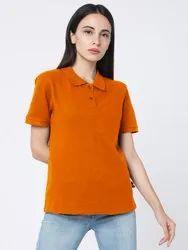 Behariji Enterprises Half Sleeve Girls Polo Collar T Shirt, Size: XS To XXL