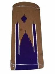 Brown and Blue 5mm Cotton Mosque Carpet, Size: 4x2feet