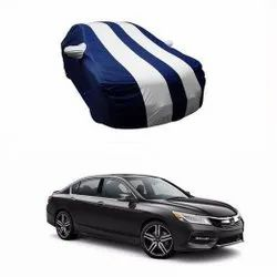 Navy Blue And Silver Car Body Cover
